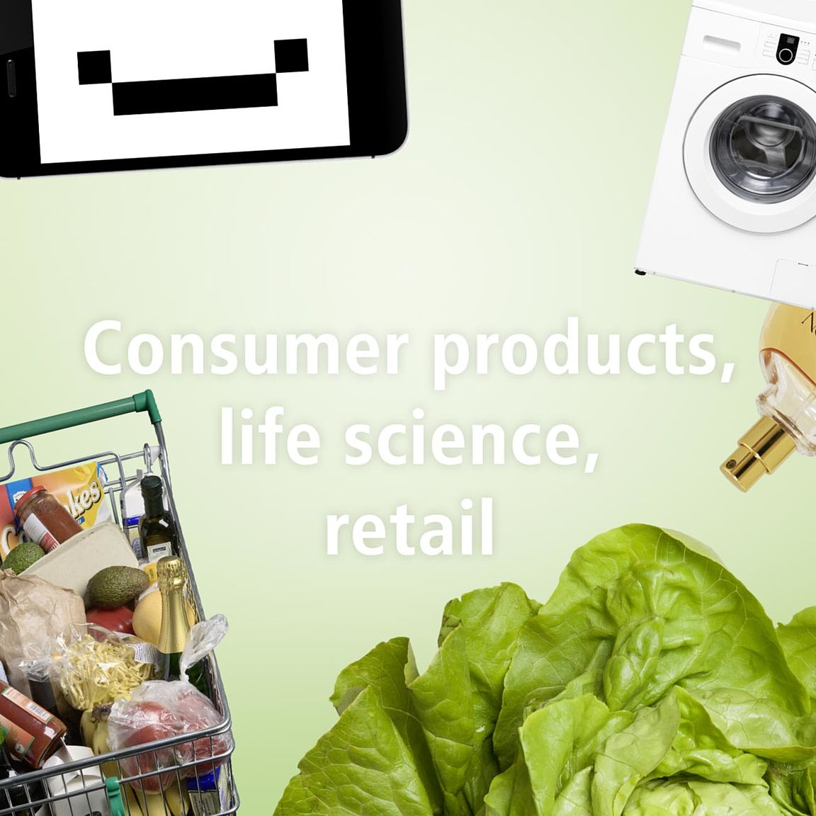 Consumer products, life science, retail