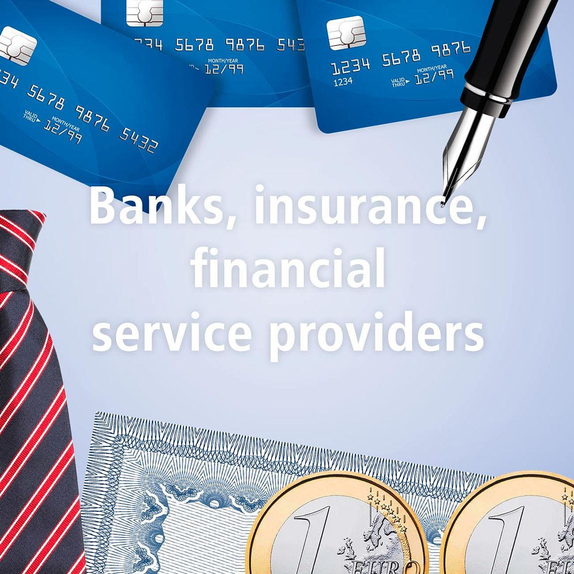 Banks, insurance, financial service providers